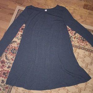 Old navy ladies long sleeve dress. Knee length